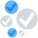 accept, checked, data analytics, tick mark icon
