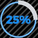 analytics, data analytics, percent, twenty five icon