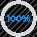 analytics, data analytics, hundred, percent icon