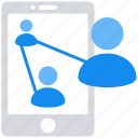 analytics, data analytics, mobile connection, networking, users icon