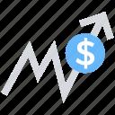 arrow, chart, data analytics, graph, sales growth, statistics icon