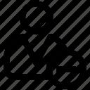 .svg, avatar, male, man, minus, person, silhouette icon