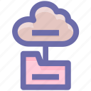 cloud, connection, data, directory, files, folder icon