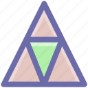 creative, point, pointer, shape, triangle icon
