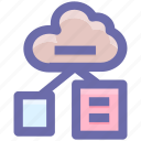 cloud, cloud pages, connection, networking, papers icon