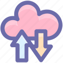 cloud, connection, download, ftp, network, upload icon