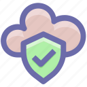 accept, cloud, cloud accept, protection, secure, security icon