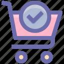 basket, cart, shopping, shopping cart, trolley icon