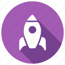 launcher, rocket, space, startup, transport icon