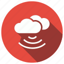 cloud, network, technology, wifi icon