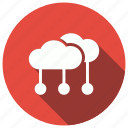 cloud, connection, internet, network, server icon