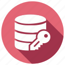data, database, key, server, storage icon