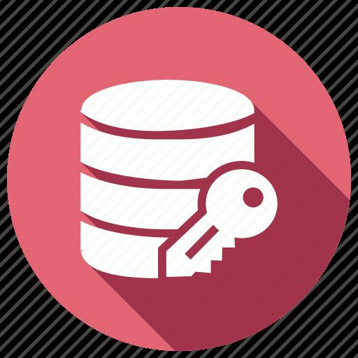 data, database, key, server, storage icon