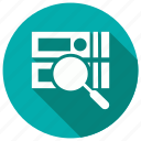 search, find, magnify, database icon