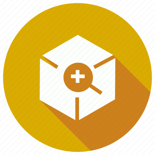 box, find, package, search icon