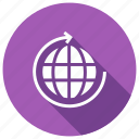 arrow, globe, refresh, reload icon