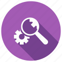 business, magnifier, search, setting icon