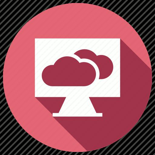 cloud, monitor, refresh, sync icon