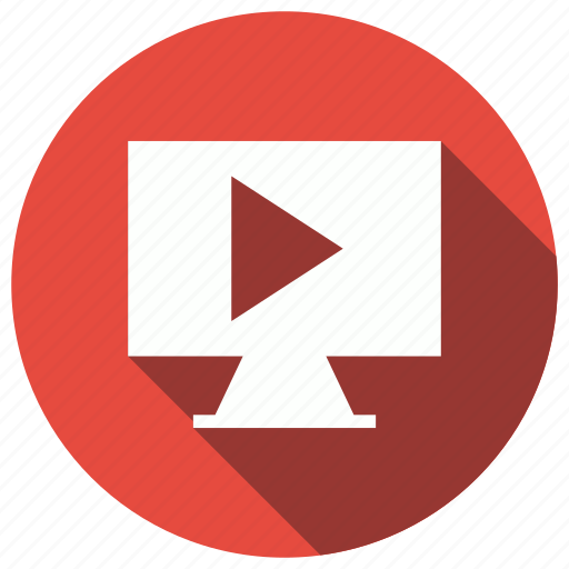 monitor, play, screen, tv icon