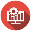 analysis, business, data, setting icon