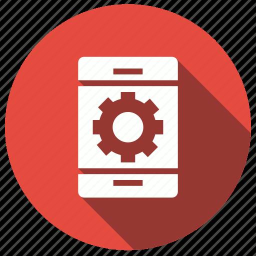 cellphone, development, mobile, setting icon