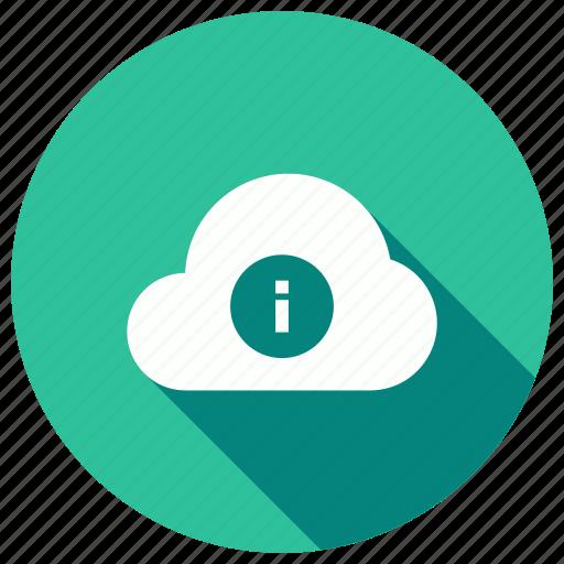 cloud, help, information, seo icon