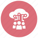 cloud, computing, people, users icon