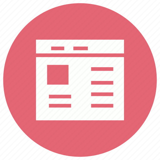 article, development, story, webcontent icon