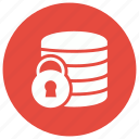 database, lock, security, server, storage icon