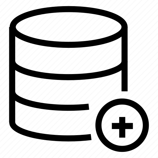 Add, database, server, storage icon - Download on Iconfinder