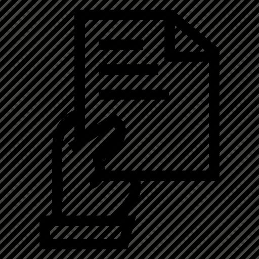 Documen, file, hand, paper icon - Download on Iconfinder