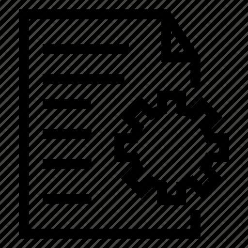 cog, file, gear, modify, setting icon