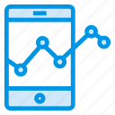 analysis, analytics, mobile, mobilegraph icon