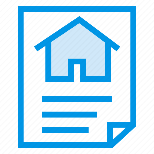 contract, document, home, house icon