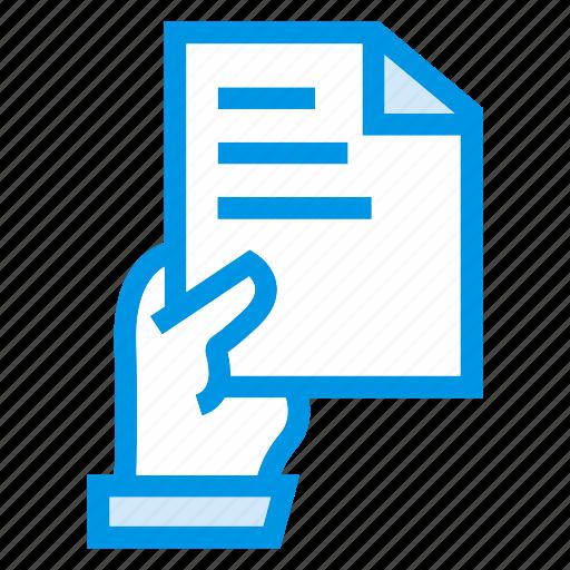 documen file hand paper icon