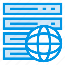 data, global, server, storage icon