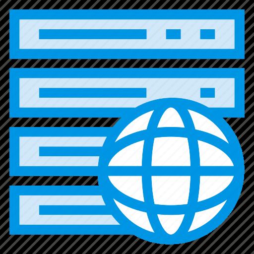 data, global, server, storage icon