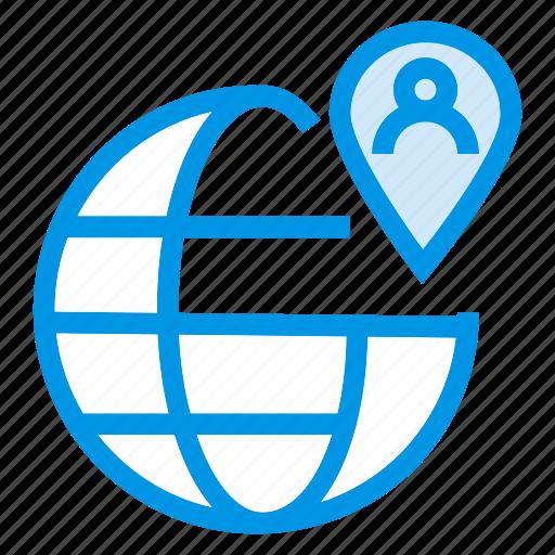 global, international, location, user icon