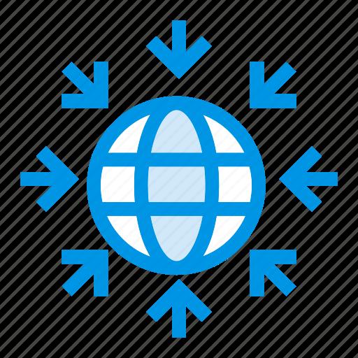 earth, global, network, world icon