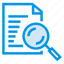 document, file, find, magnifier, search icon