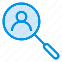 find, person, search, user icon