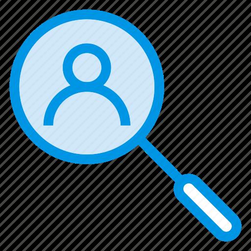 find, person, search, user icon