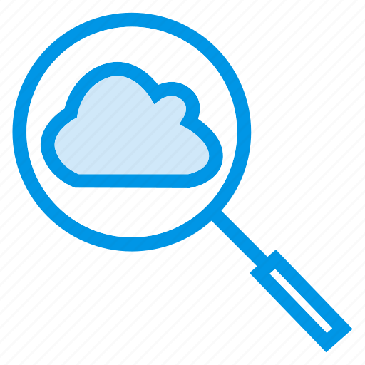 cloud, find, magnify, search icon