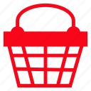 basket, cart, ecommerce, shopping icon