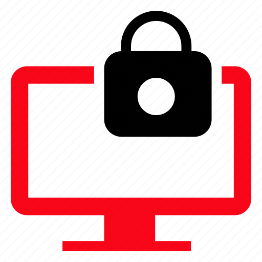 display, lock, monitor, protect, screen icon