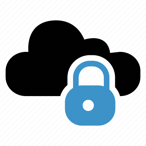 cloud, lock, protection, secure, security icon