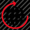 reload, globe, arrow, refresh icon