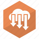 arrow, cloud, down, download, storage icon