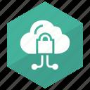 cloud, datastorage, lock, private, protected