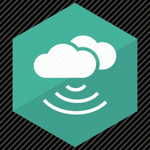 cloud, network, technology, wifi icon